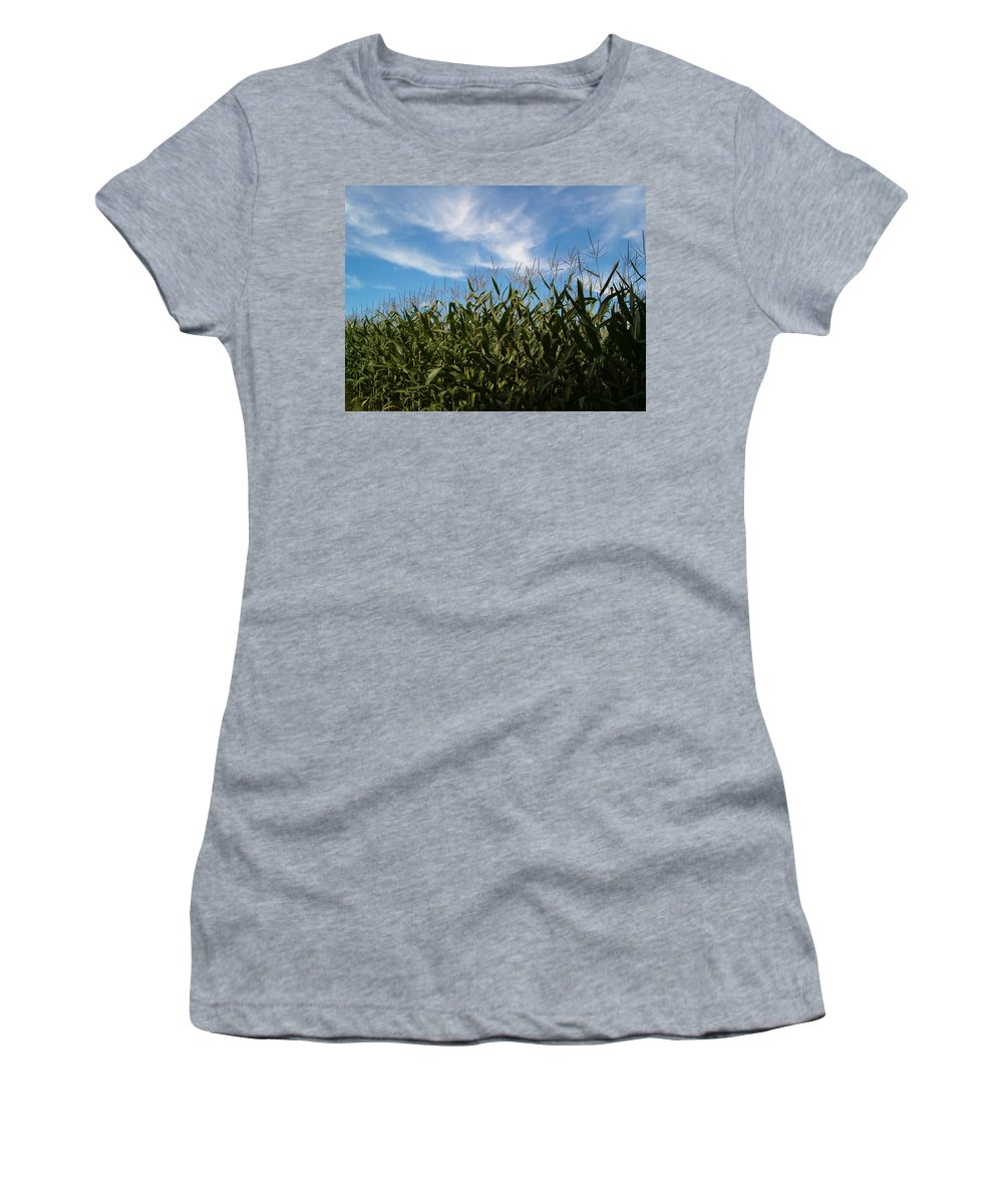 Farming Women's T-Shirt (Athletic Fit) featuring the photograph In The Field by Sara Raber