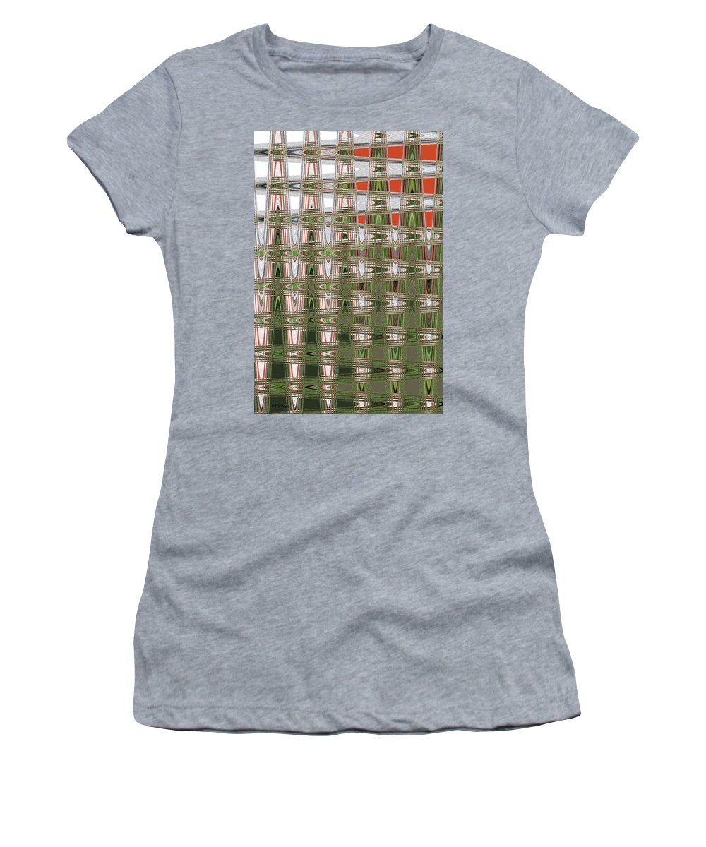 Indian Paint Pot Flower Abstract #2 Women's T-Shirt featuring the photograph Indian Paint Pot Flower Abstract #2 by Tom Janca