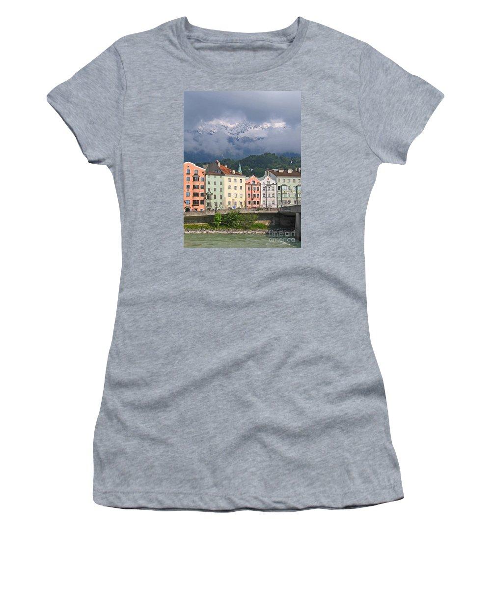 Innsbruck Women's T-Shirt (Athletic Fit) featuring the photograph Innsbruck by Ann Horn