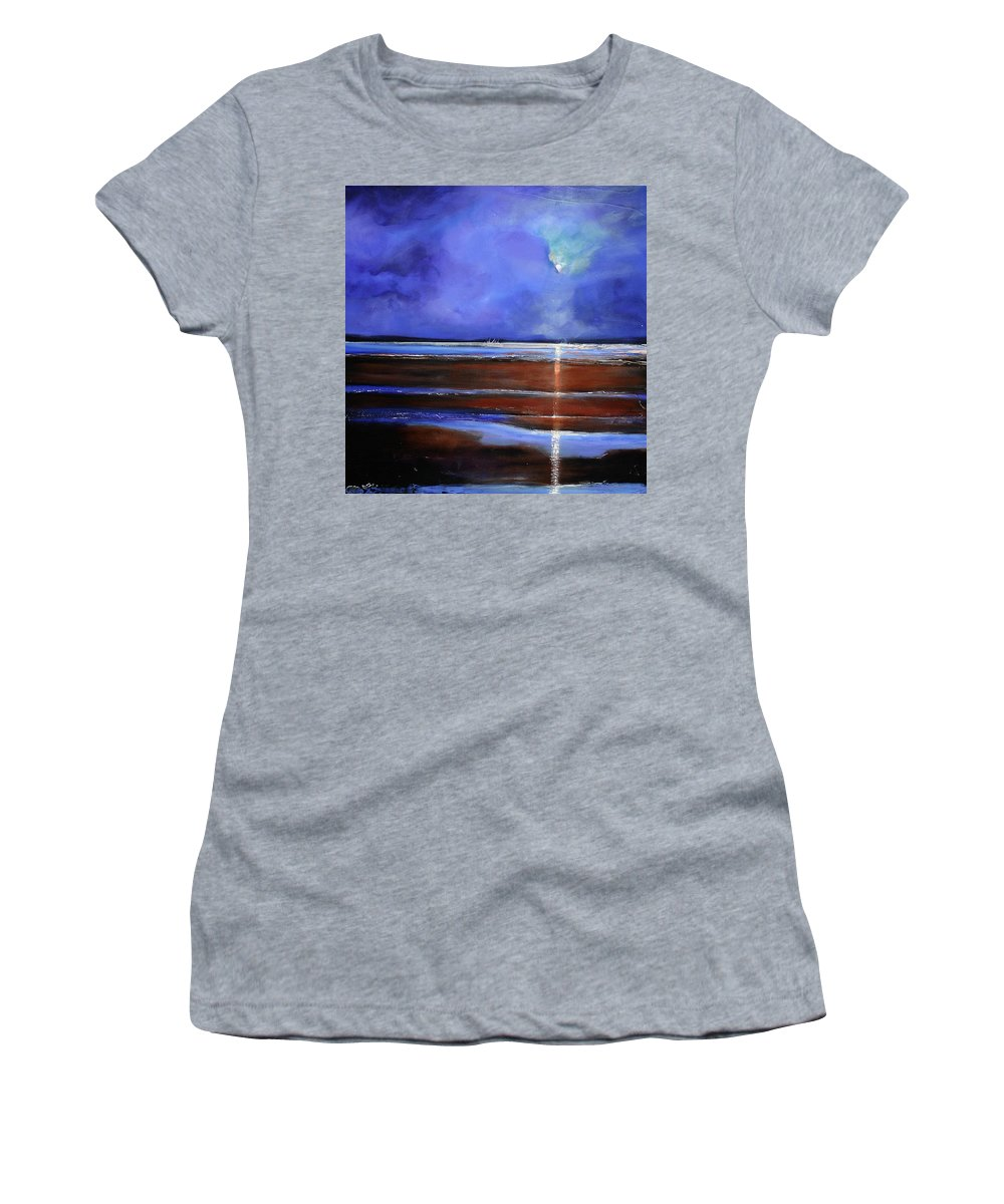 Beach Women's T-Shirt featuring the painting Inspiration Beach by Toni Grote