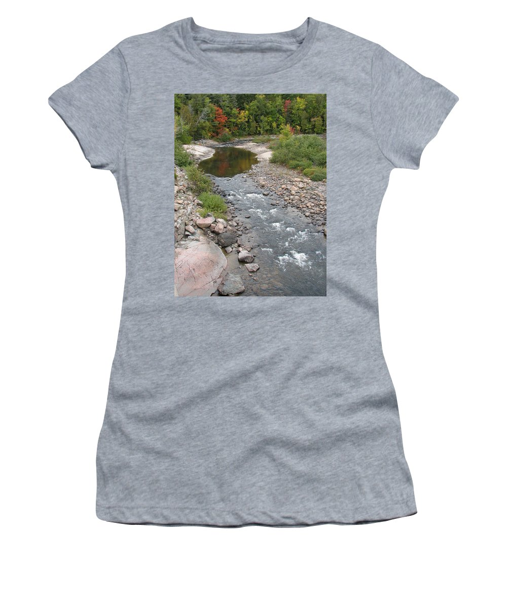 Water Women's T-Shirt (Athletic Fit) featuring the photograph Into The Woods by Kelly Mezzapelle