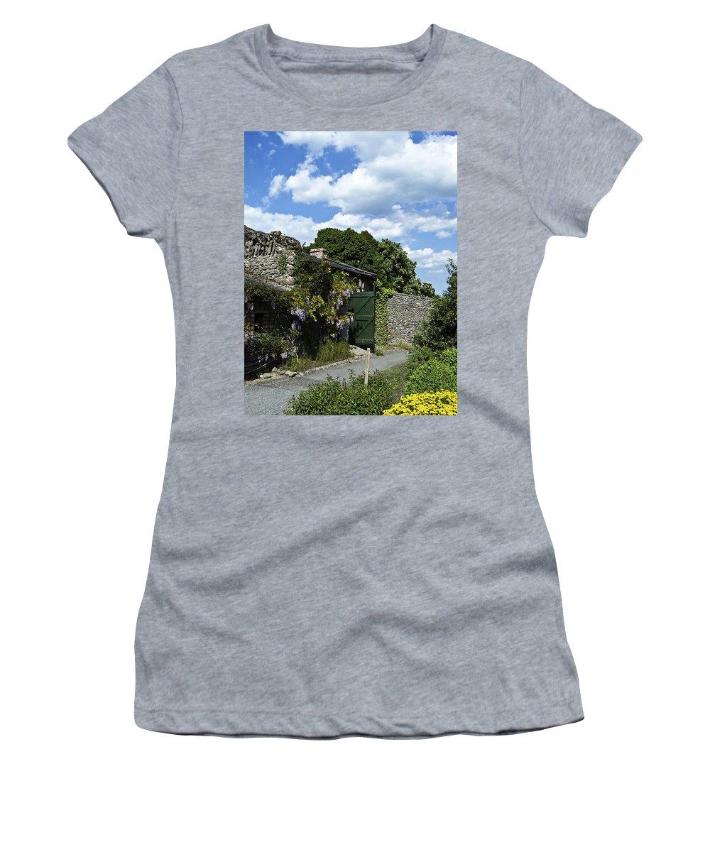 Irish Women's T-Shirt featuring the photograph Irish Garden County Clare by Teresa Mucha