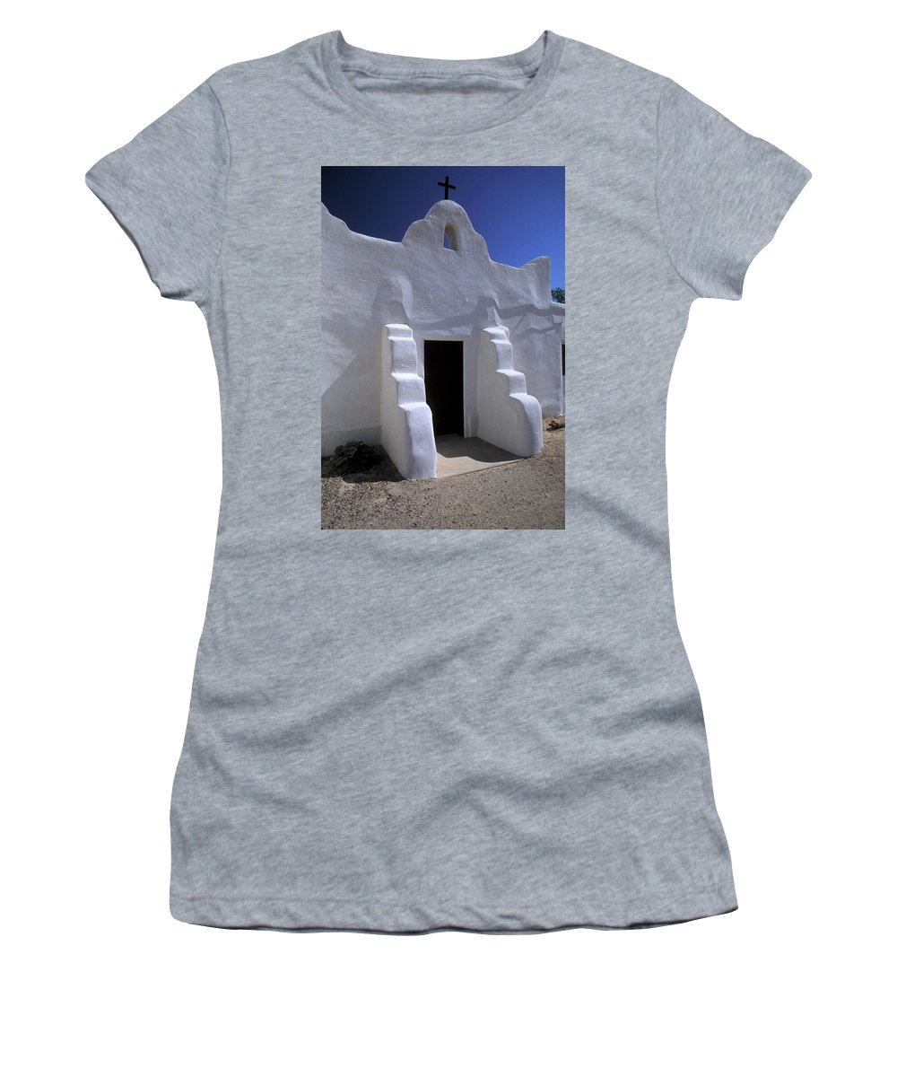 Adobe Women's T-Shirt (Athletic Fit) featuring the photograph Isleta by Jerry McElroy