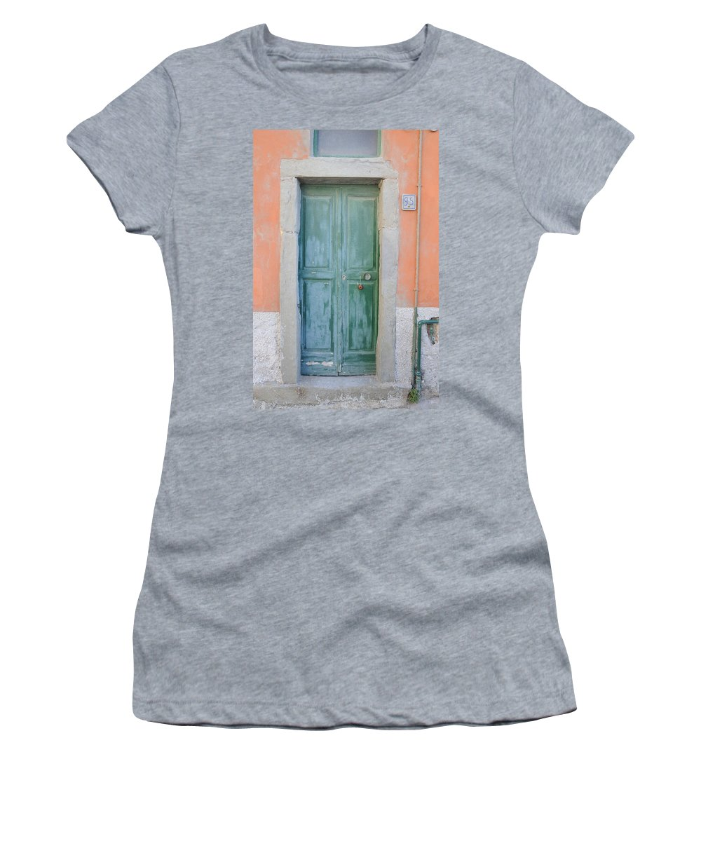 Europe Women's T-Shirt featuring the photograph Italy - Door Five by Jim Benest