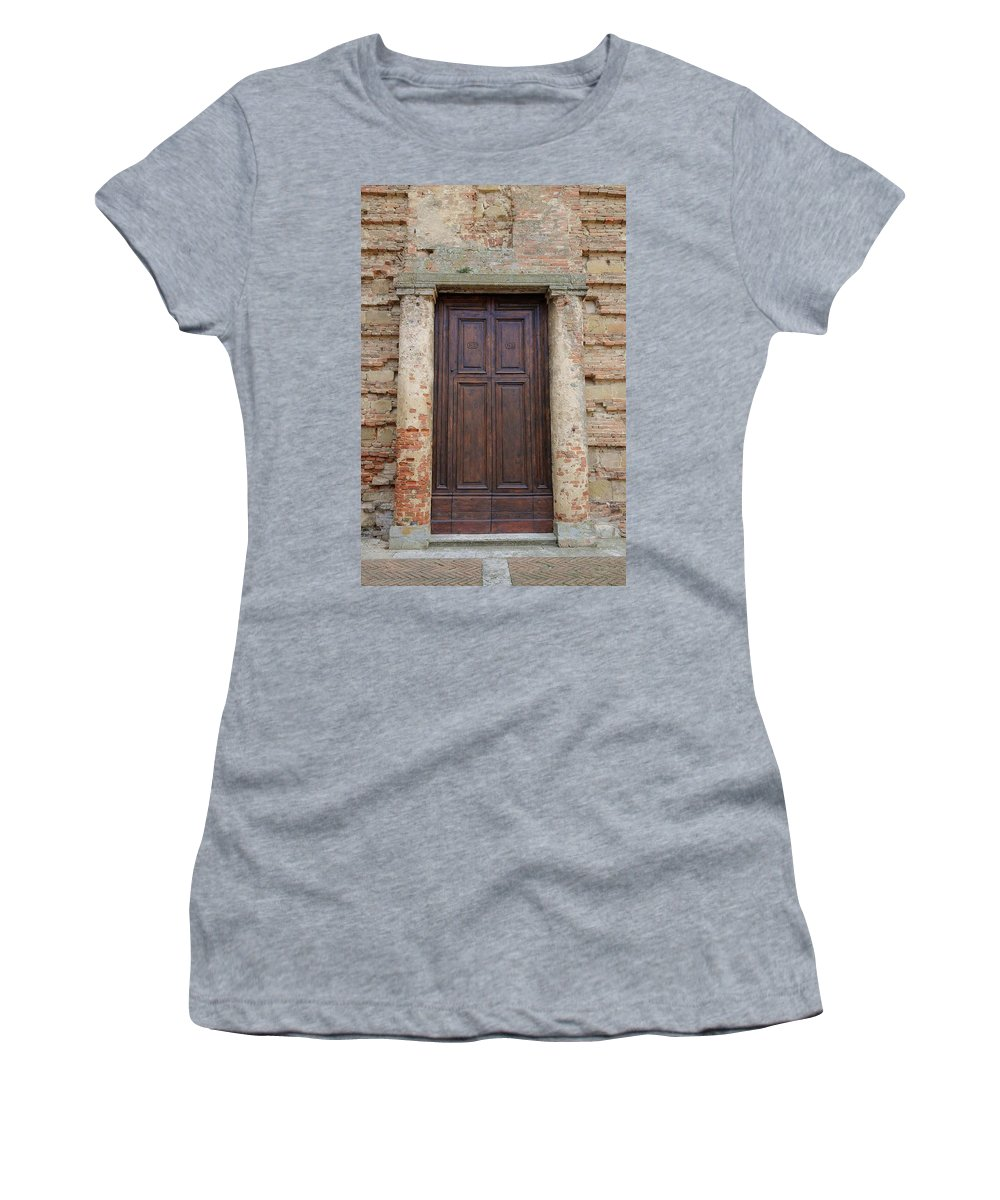 Europe Women's T-Shirt (Athletic Fit) featuring the photograph Italy - Door Nineteen by Jim Benest