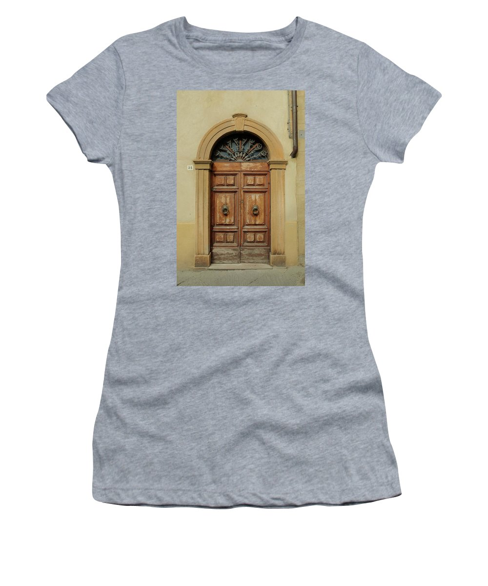 Europe Women's T-Shirt featuring the photograph Italy - Door One by Jim Benest
