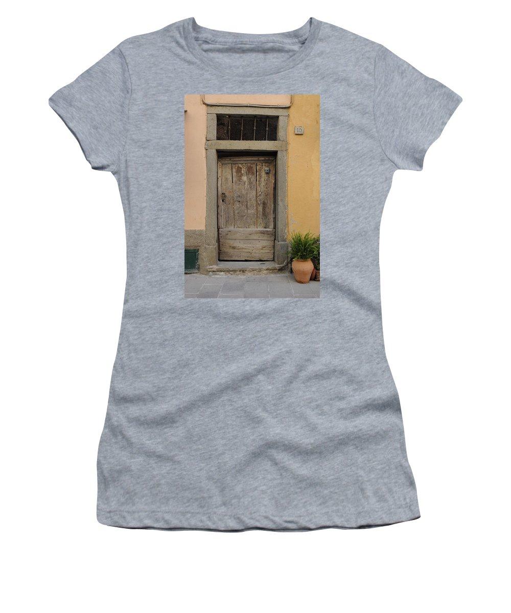 Europe Women's T-Shirt featuring the photograph Italy - Door Twenty Three by Jim Benest