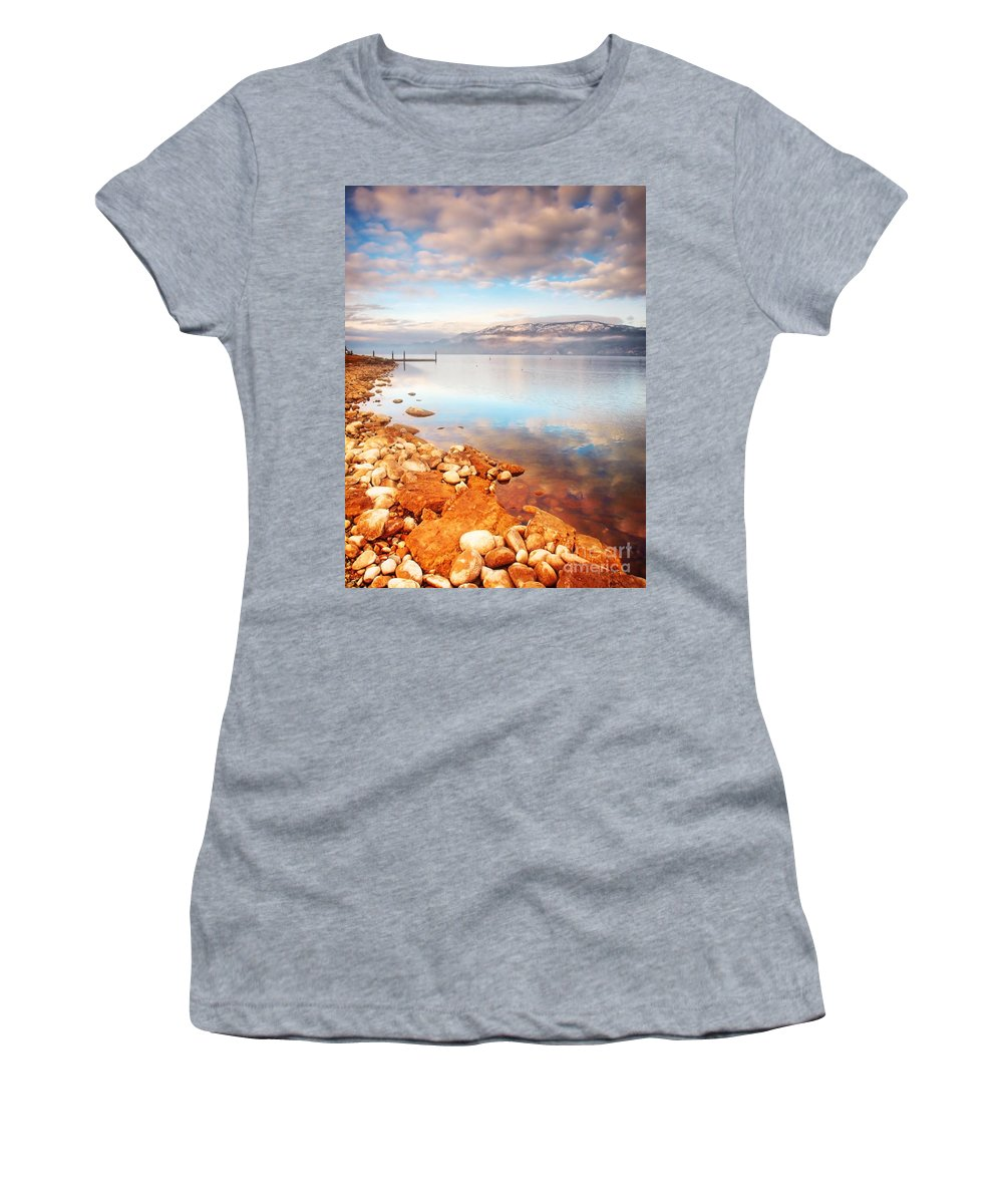 Lake Women's T-Shirt featuring the photograph January 19 2010 by Tara Turner