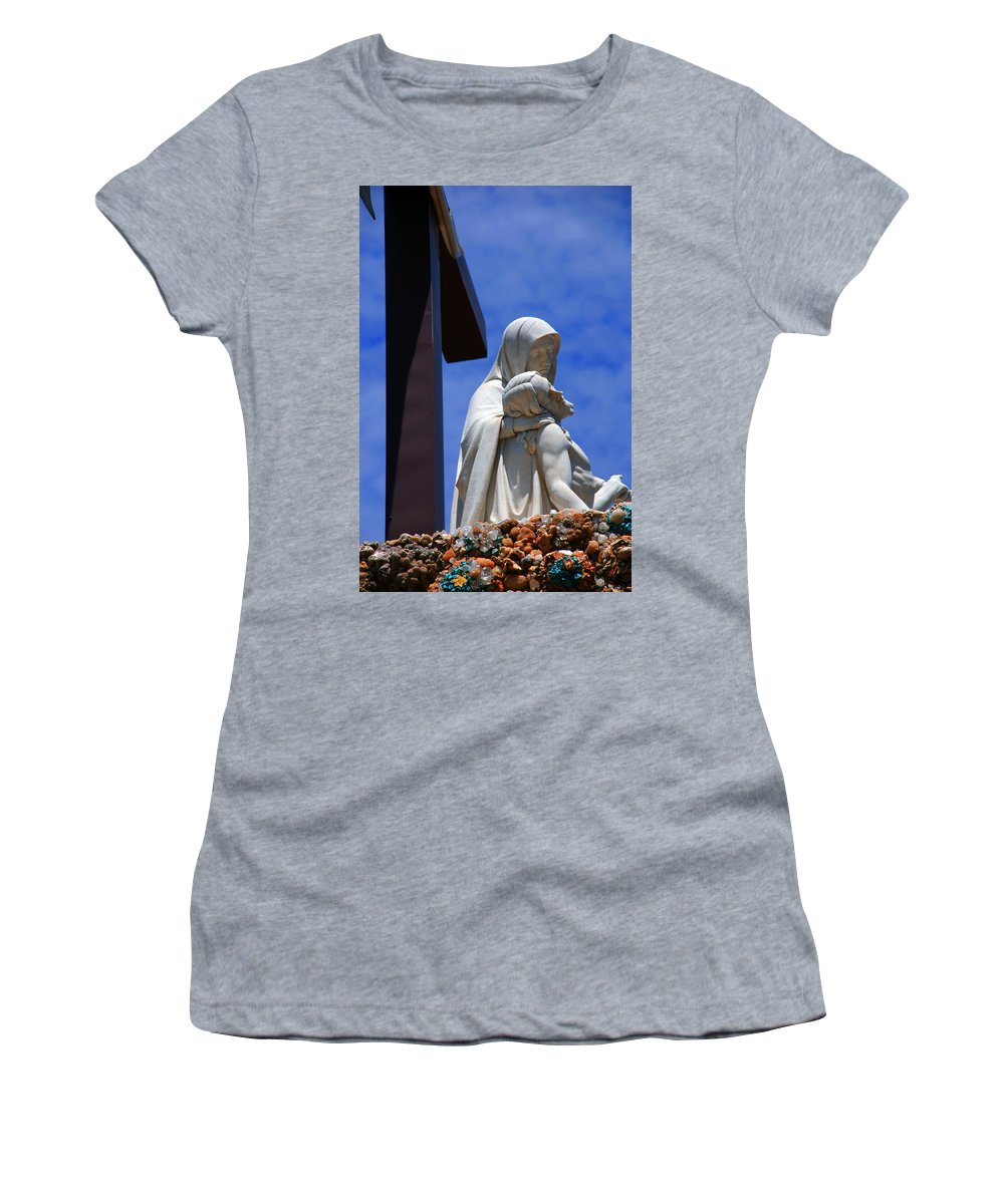 Jesus And Maria Women's T-Shirt (Athletic Fit) featuring the photograph Jesus And Maria by Susanne Van Hulst
