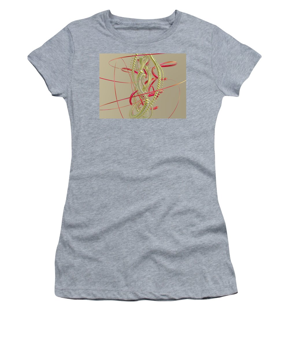 Scott Piers Women's T-Shirt (Athletic Fit) featuring the digital art Jewelry On A Stick 6 by Scott Piers