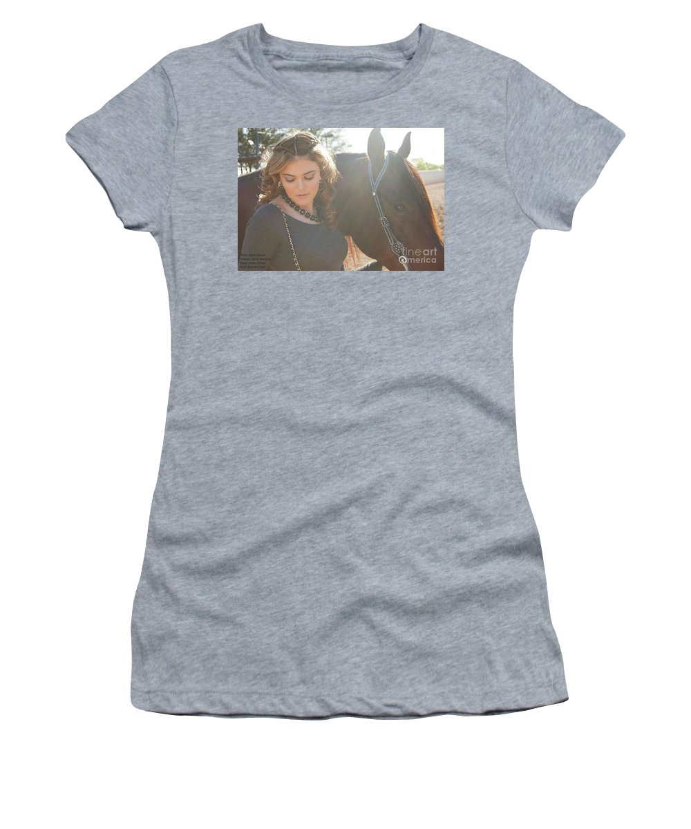 Women's T-Shirt featuring the photograph Jordan-display Only by Isabel Menzel