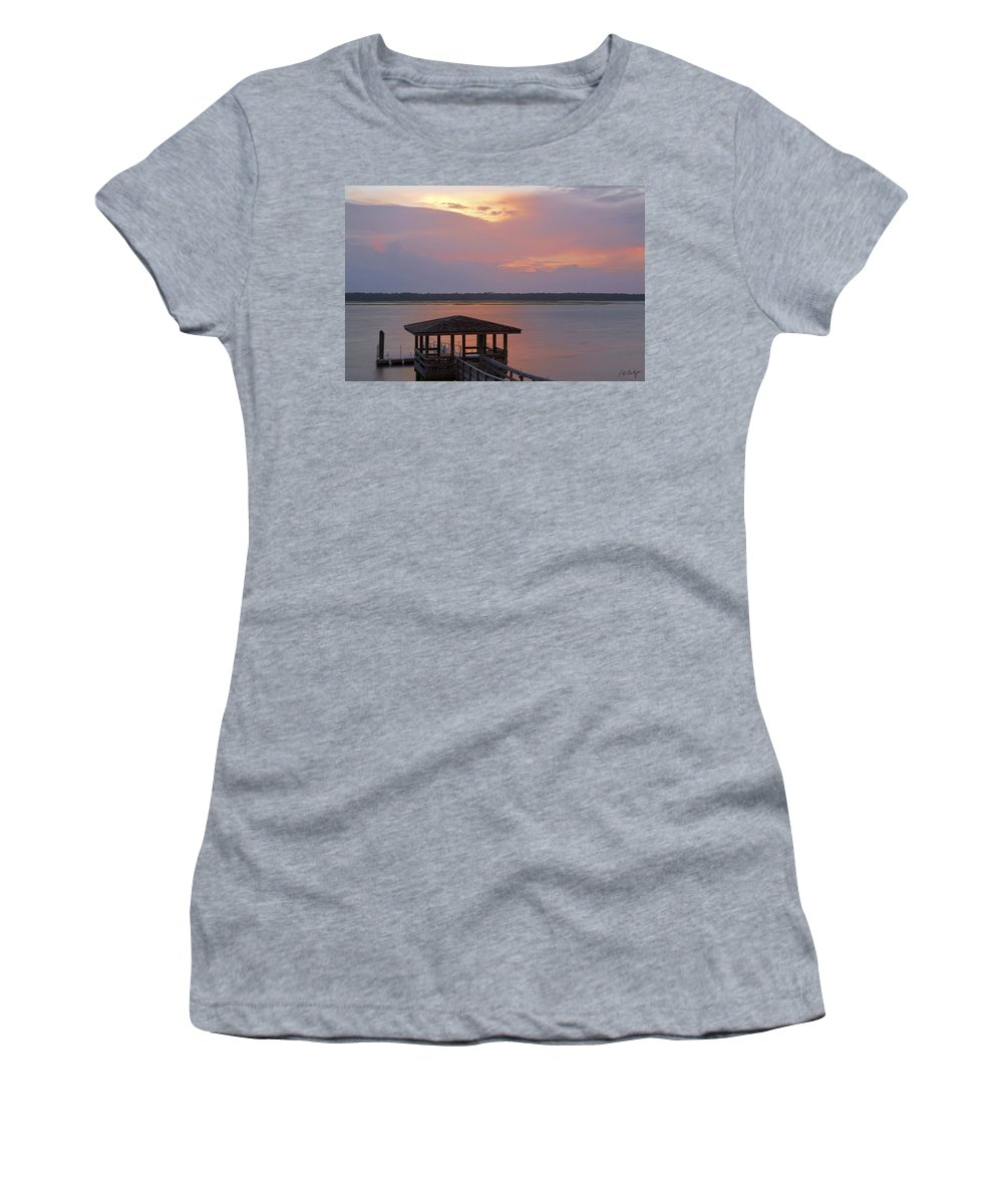 Sunset Women's T-Shirt (Athletic Fit) featuring the photograph July Evening by Phill Doherty