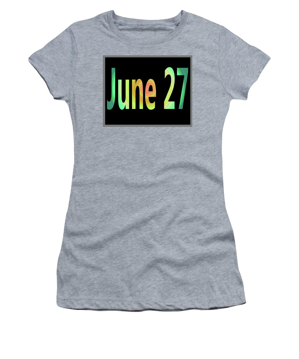 June Women's T-Shirt featuring the digital art June 27 by Day Williams