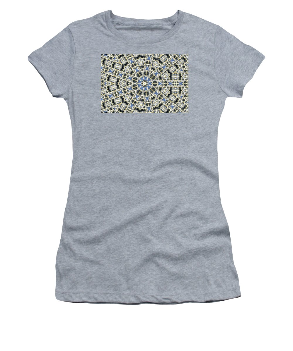 Kaleidoscope Women's T-Shirt (Athletic Fit) featuring the digital art Kaleidoscope 78 by Ron Bissett
