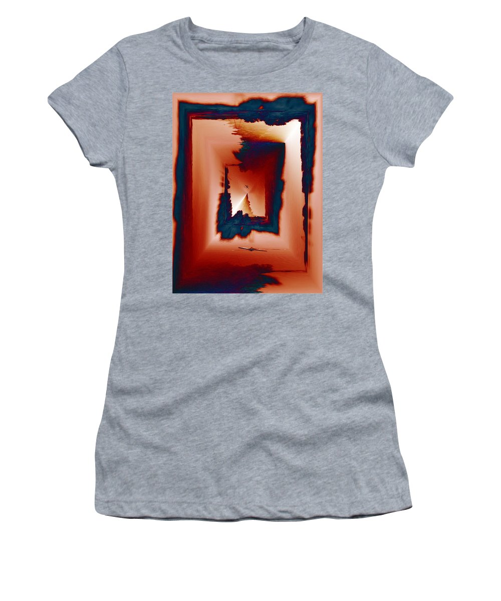 Kayak Women's T-Shirt (Athletic Fit) featuring the photograph Kayaking The Cut by Tim Allen