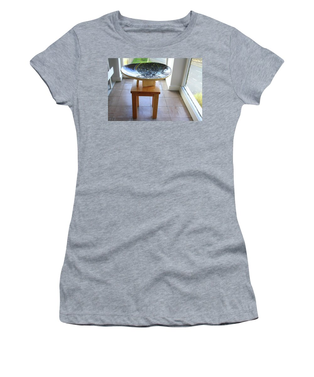 Mama Africa Twojesus Women's T-Shirt (Athletic Fit) featuring the ceramic art Keepsake View One by Gloria Ssali