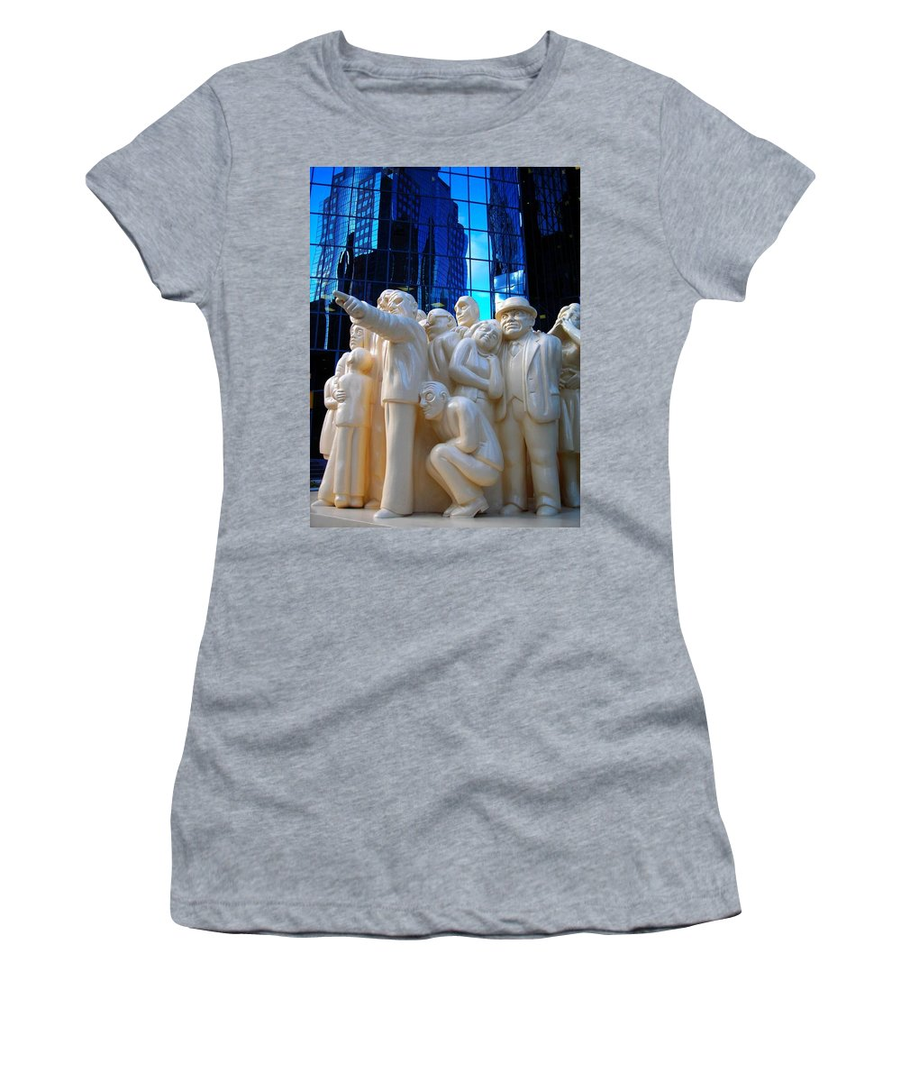 North America Women's T-Shirt (Athletic Fit) featuring the photograph La Foule Illuminee by Juergen Weiss