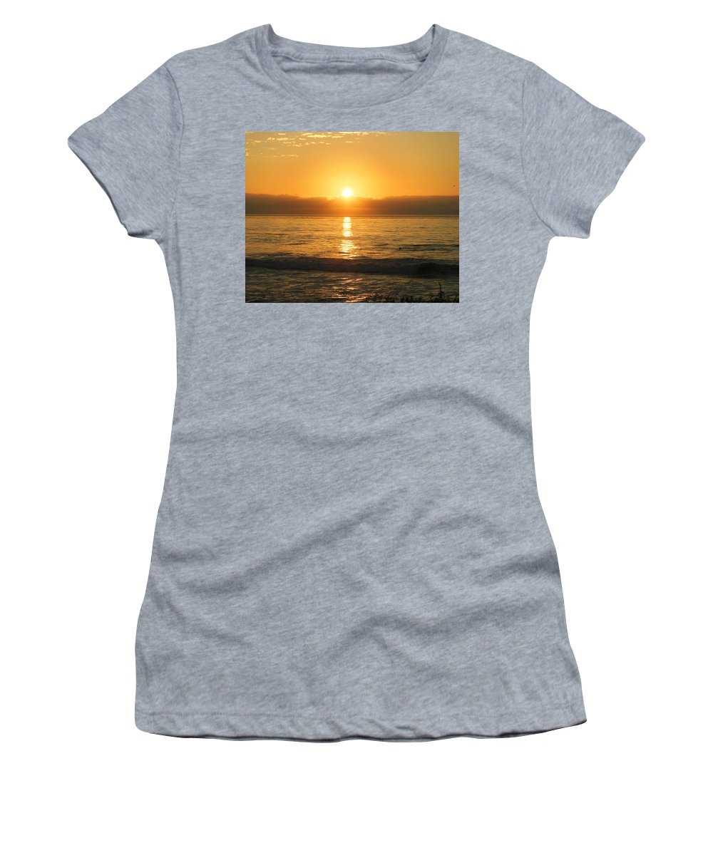 Sunset Women's T-Shirt (Athletic Fit) featuring the photograph La Jolla Sunset by Anthony Jones