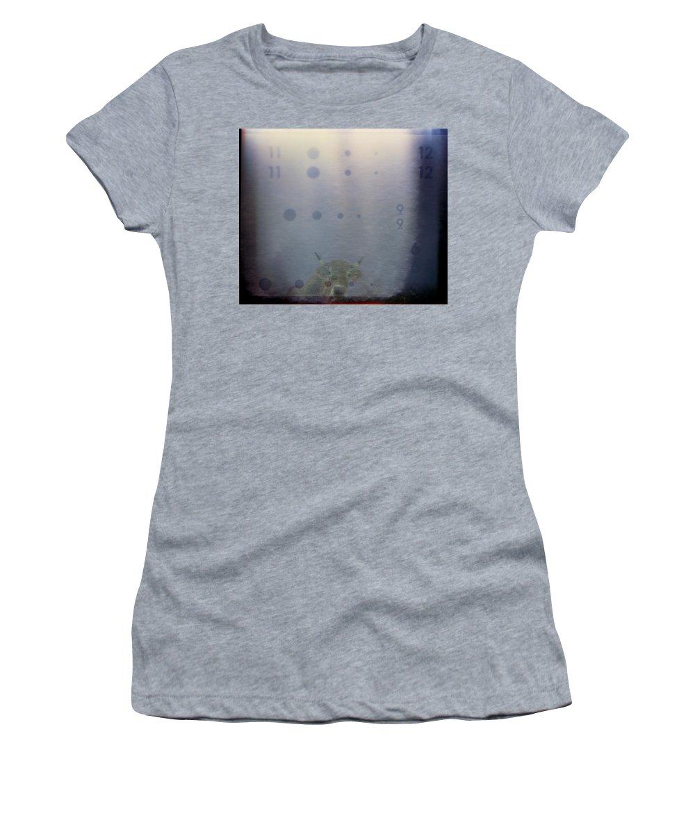Cow Women's T-Shirt (Athletic Fit) featuring the photograph La Vache Numerique II by Rafa Rivas
