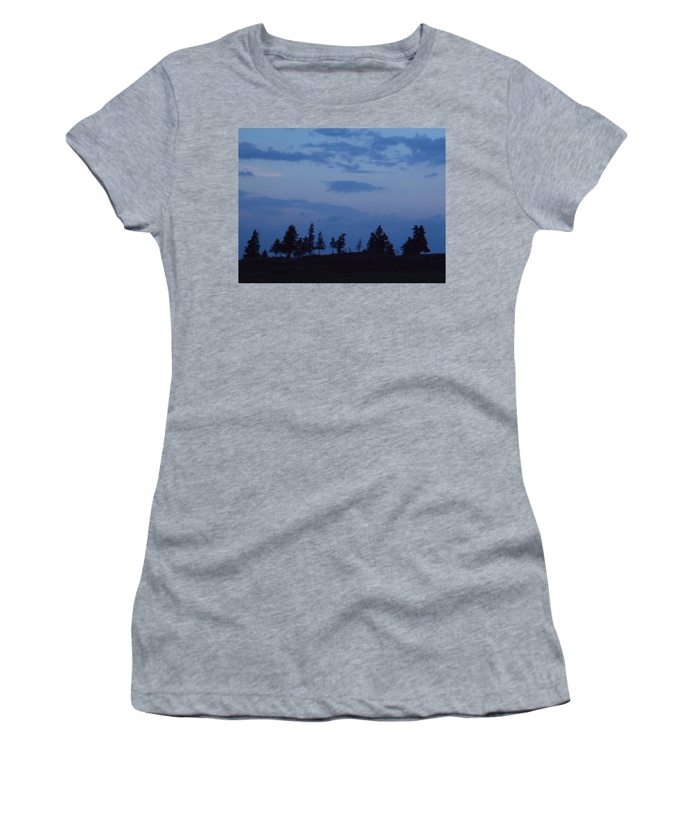 Women's T-Shirt (Athletic Fit) featuring the photograph Lac-st-jean Way by Line Gagne