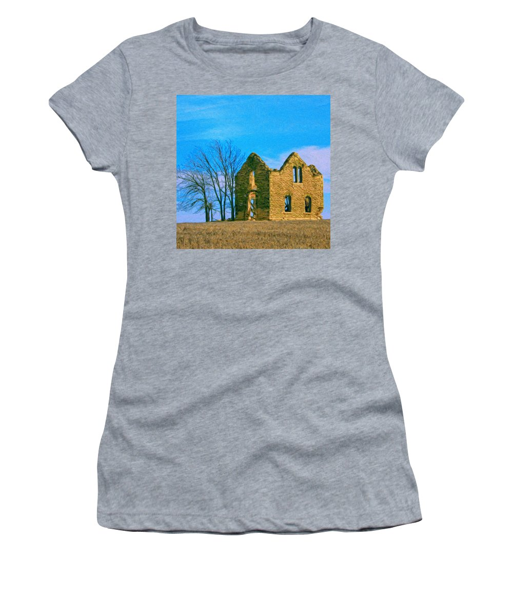 Laird Women's T-Shirt (Athletic Fit) featuring the painting Laird by Dominic Piperata