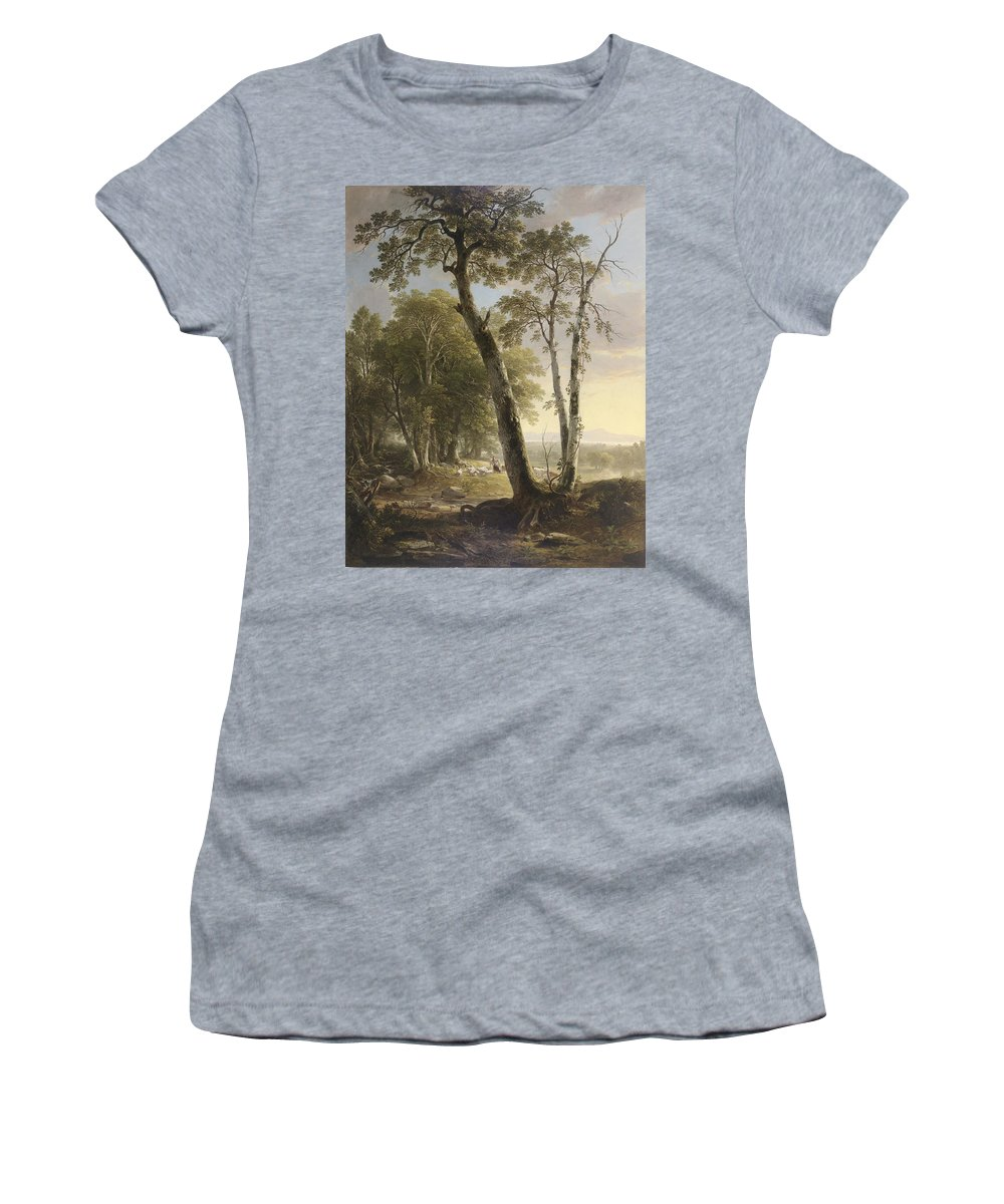 Landscape Women's T-Shirt (Athletic Fit) featuring the painting Landscape by Asher Brown