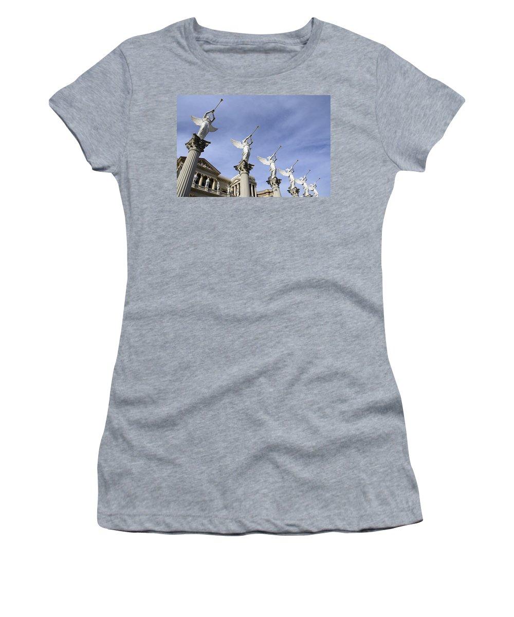 Las Vegas Women's T-Shirt featuring the photograph Las Vegas Angels by Bob Christopher