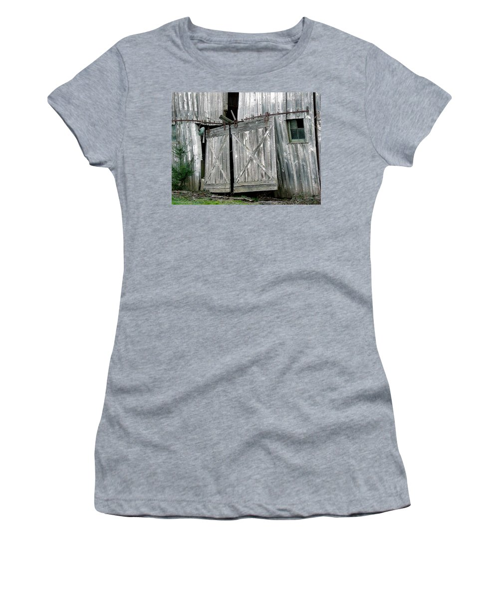 Barn Women's T-Shirt featuring the digital art Life Among The Ruins by RC DeWinter