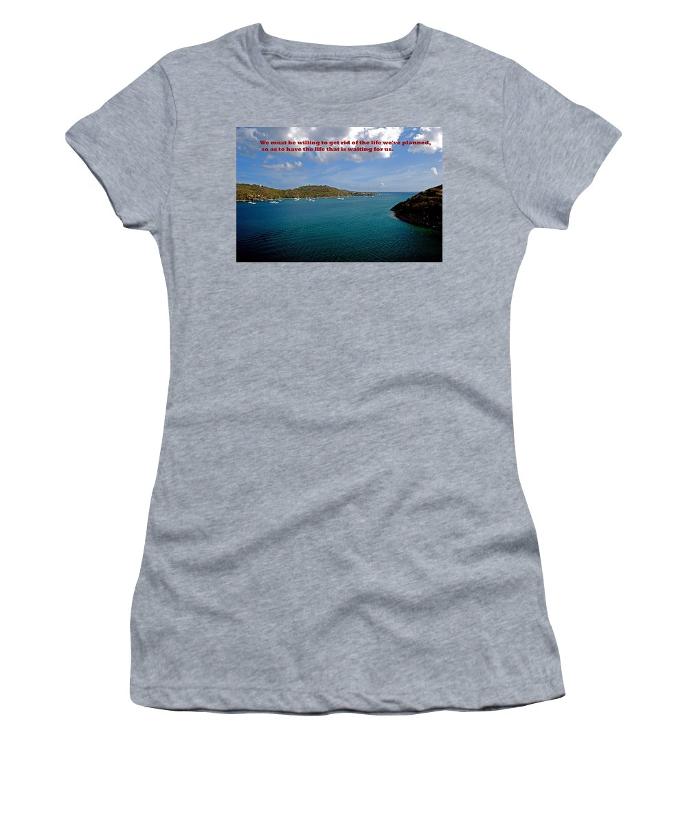 Water Women's T-Shirt (Athletic Fit) featuring the photograph Life Changes by Gary Wonning