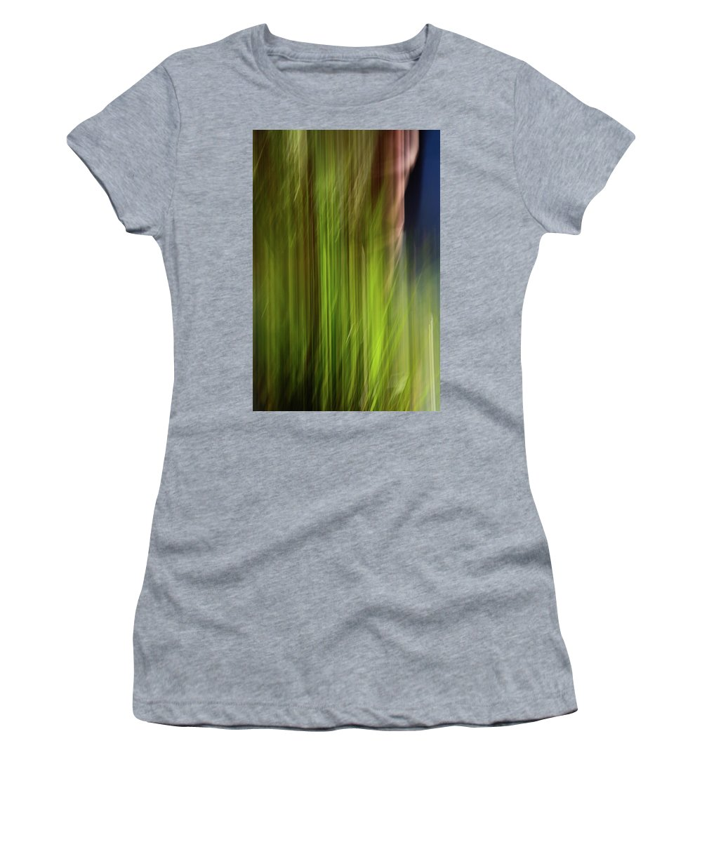Abstract Women's T-Shirt (Athletic Fit) featuring the photograph Light Series 2 by Bob Sebring