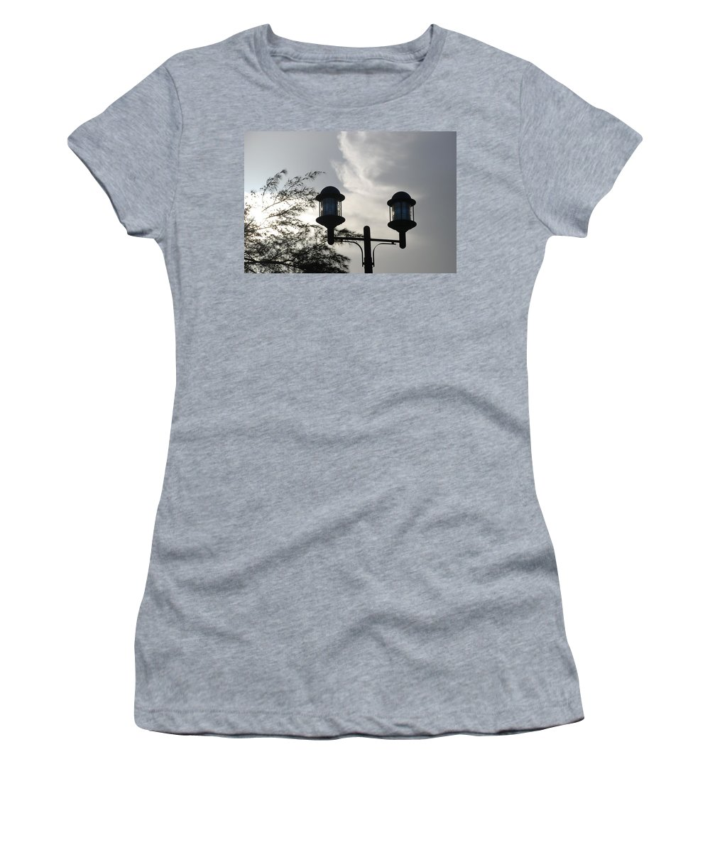 Sunset Women's T-Shirt (Athletic Fit) featuring the photograph Lights In The Sky by Rob Hans