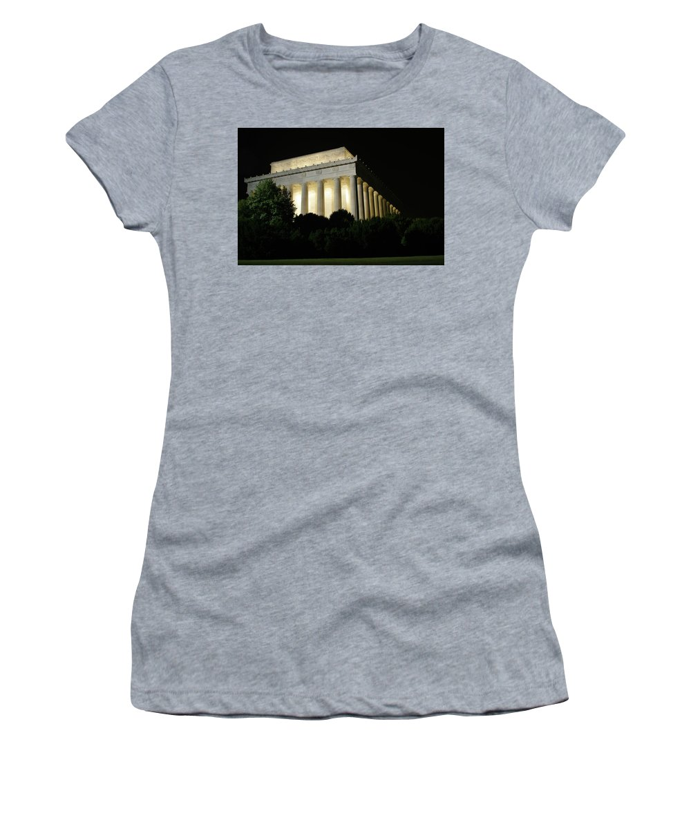 Women's T-Shirt (Athletic Fit) featuring the photograph Lincoln Memorial by Darren Edwards
