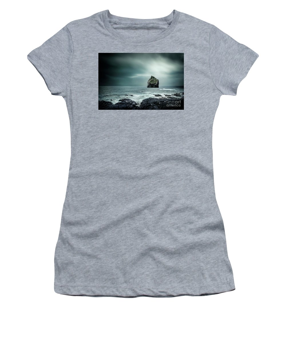 Kremsdorf Women's T-Shirt featuring the photograph Lone Man Saga by Evelina Kremsdorf
