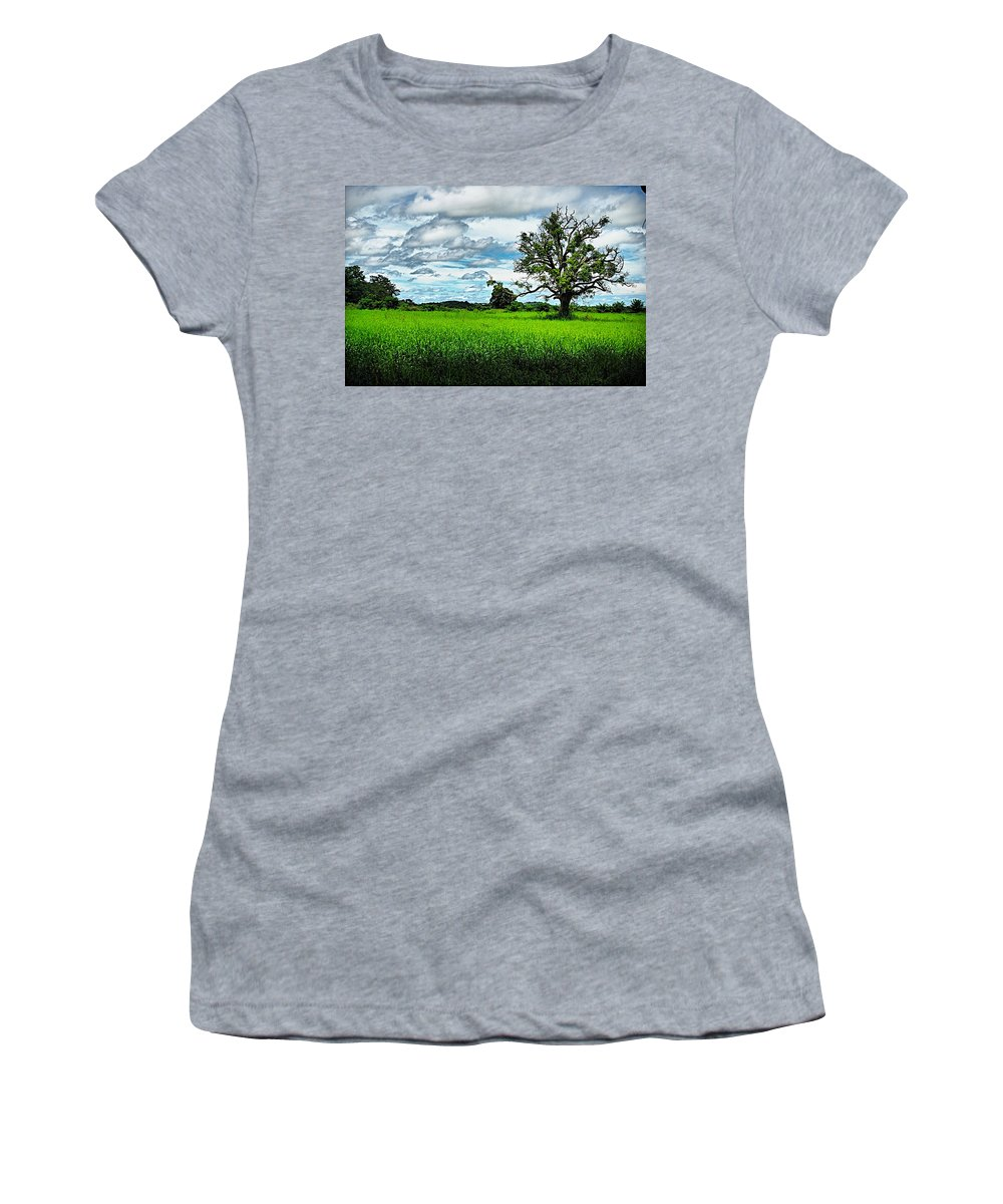 Tree Women's T-Shirt (Athletic Fit) featuring the photograph Lonley Tree by Galeria Trompiz