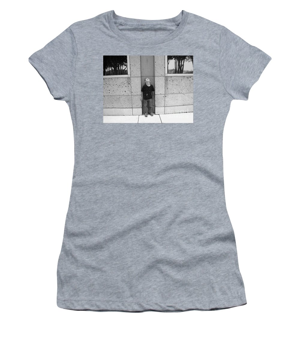 Building Women's T-Shirt featuring the photograph Looken Up by Michelle S White
