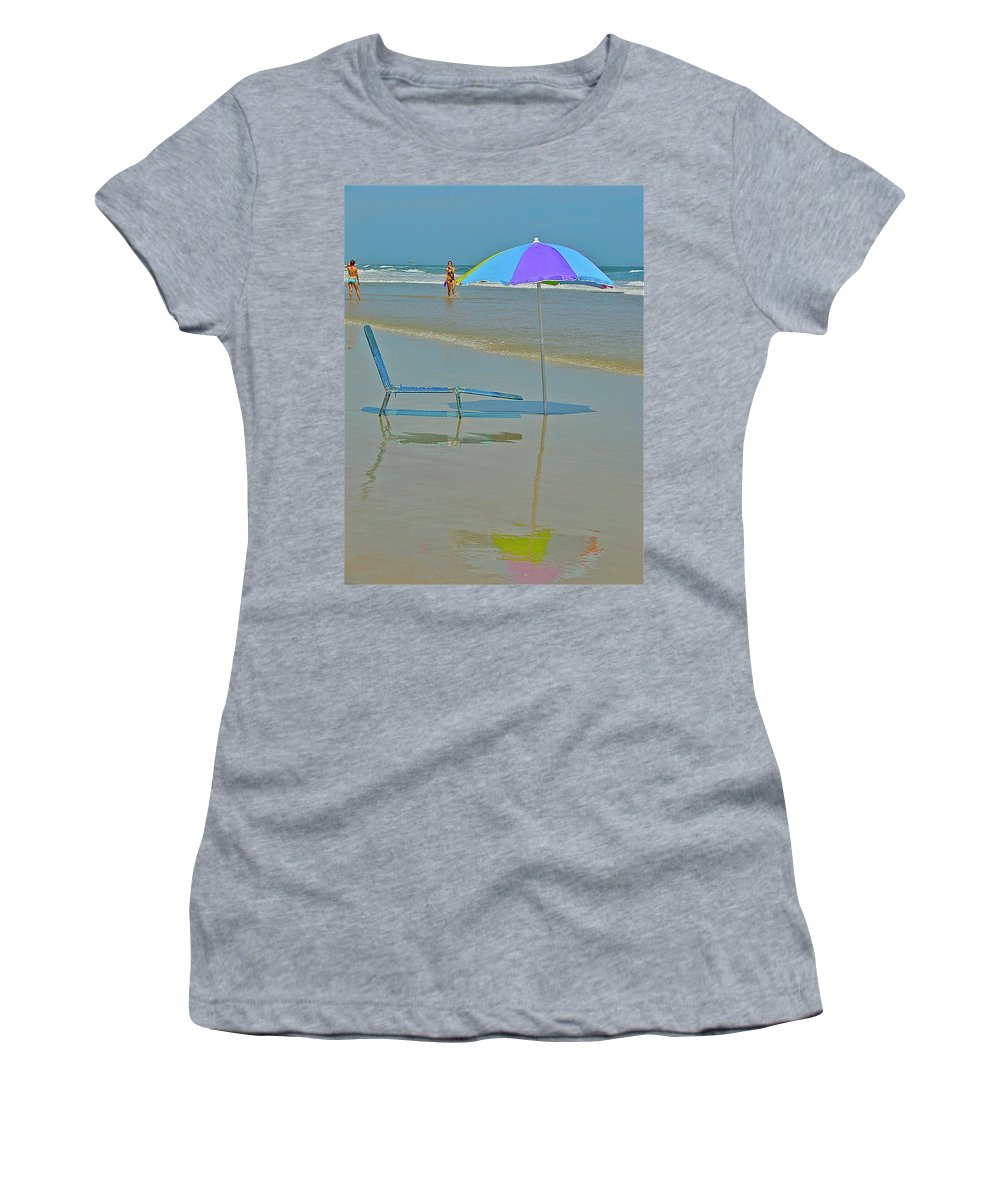 Beach Women's T-Shirt (Athletic Fit) featuring the photograph Looks Inviting by Diana Hatcher