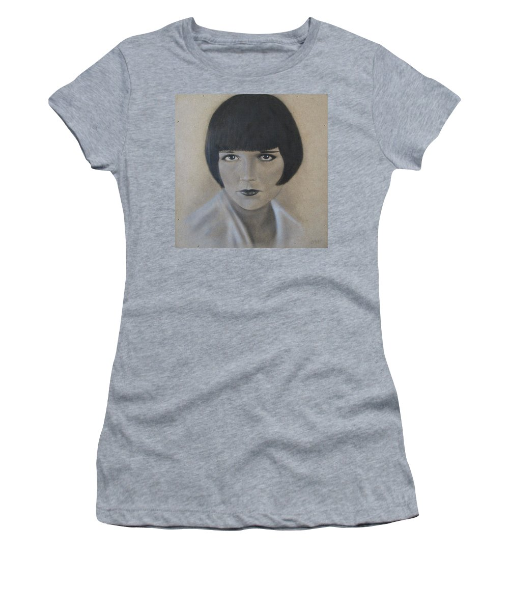 Woman Women's T-Shirt (Athletic Fit) featuring the painting Louise by Lynet McDonald