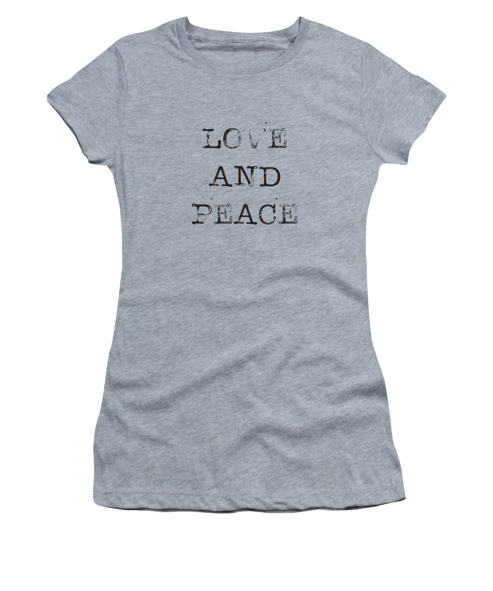 Love Women's T-Shirt (Athletic Fit) featuring the digital art Love And Peace by Kathleen Wong