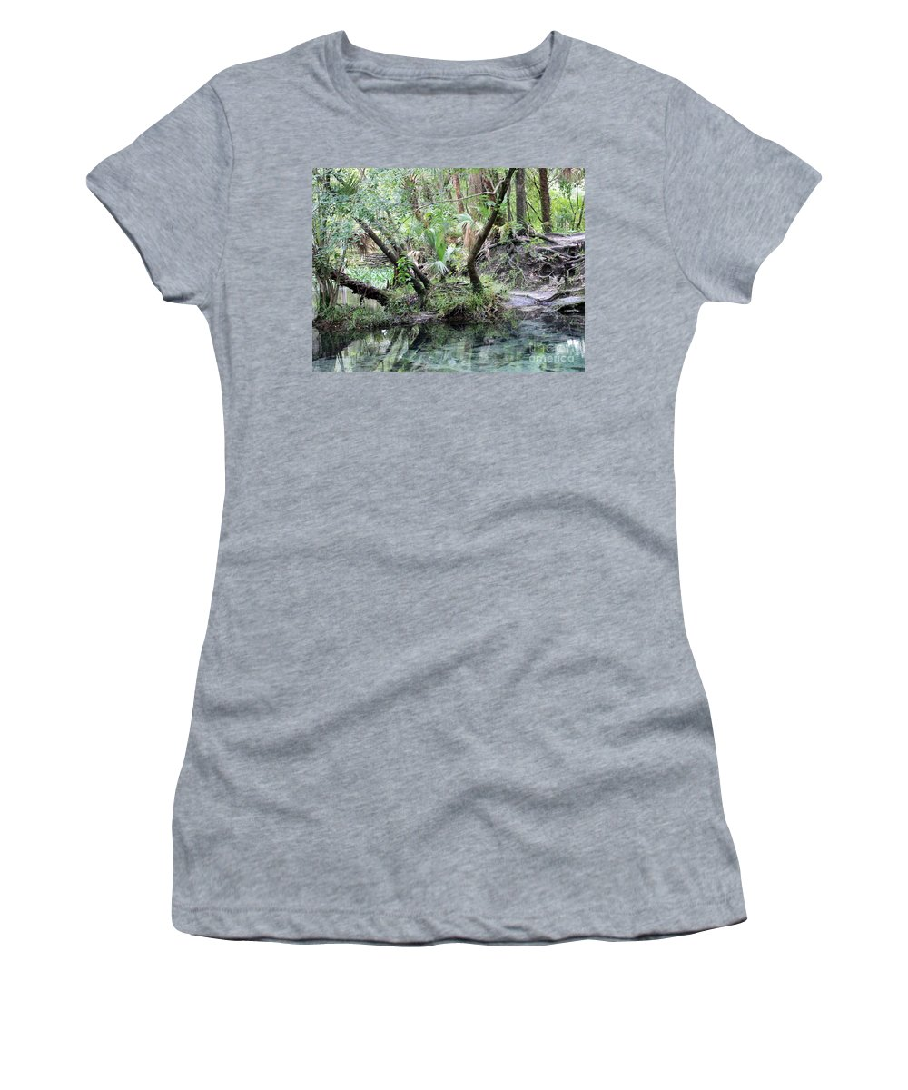 Landscape Women's T-Shirt (Athletic Fit) featuring the photograph Lovely Lithia Springs by Carol Groenen
