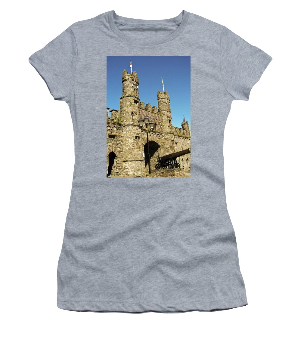 Irish Women's T-Shirt (Athletic Fit) featuring the photograph Macroom Castle County Cork Ireland by Teresa Mucha