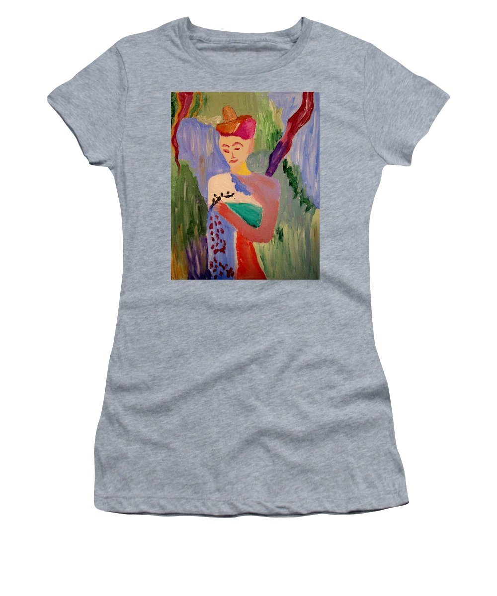 Woman Women's T-Shirt featuring the painting Madeline by Bill OConnor