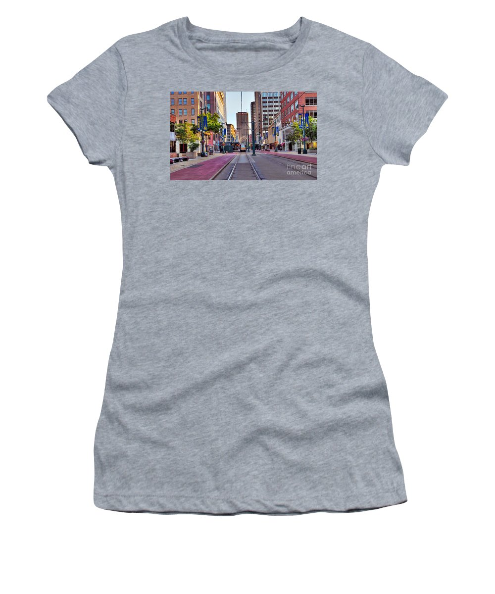 Building Women's T-Shirt (Athletic Fit) featuring the photograph Main Street by Kathleen Struckle
