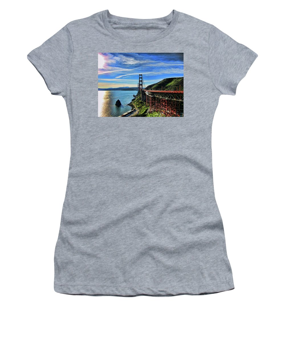San Francisco Women's T-Shirt (Athletic Fit) featuring the photograph Making Ends Meet by Douglas Barnard