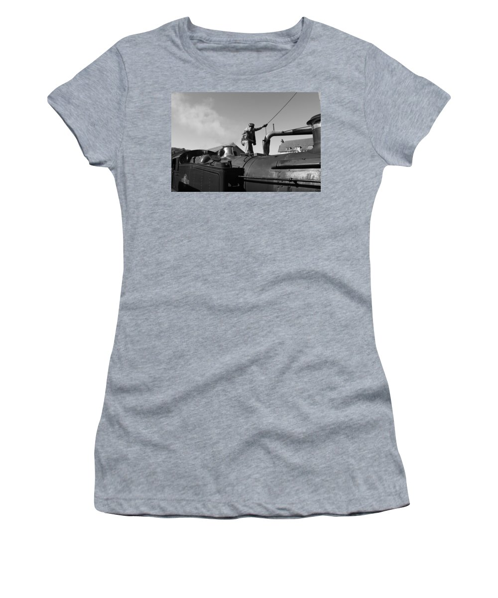 Steam Women's T-Shirt (Athletic Fit) featuring the photograph Making Steam 2 by Lauri Novak
