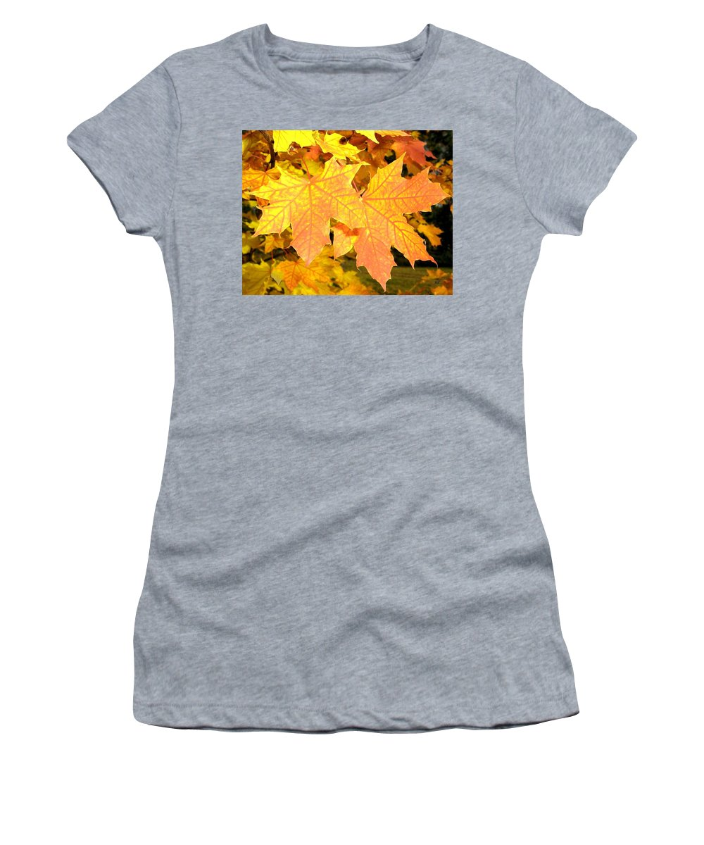 Autumn Women's T-Shirt featuring the photograph Maple Mania 2 by Will Borden