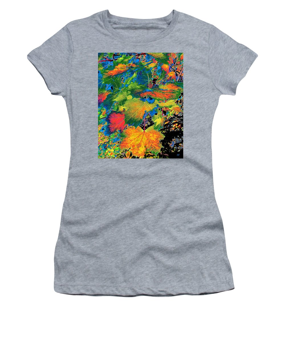 Photo Design Women's T-Shirt featuring the digital art Maple Mania 3 by Will Borden