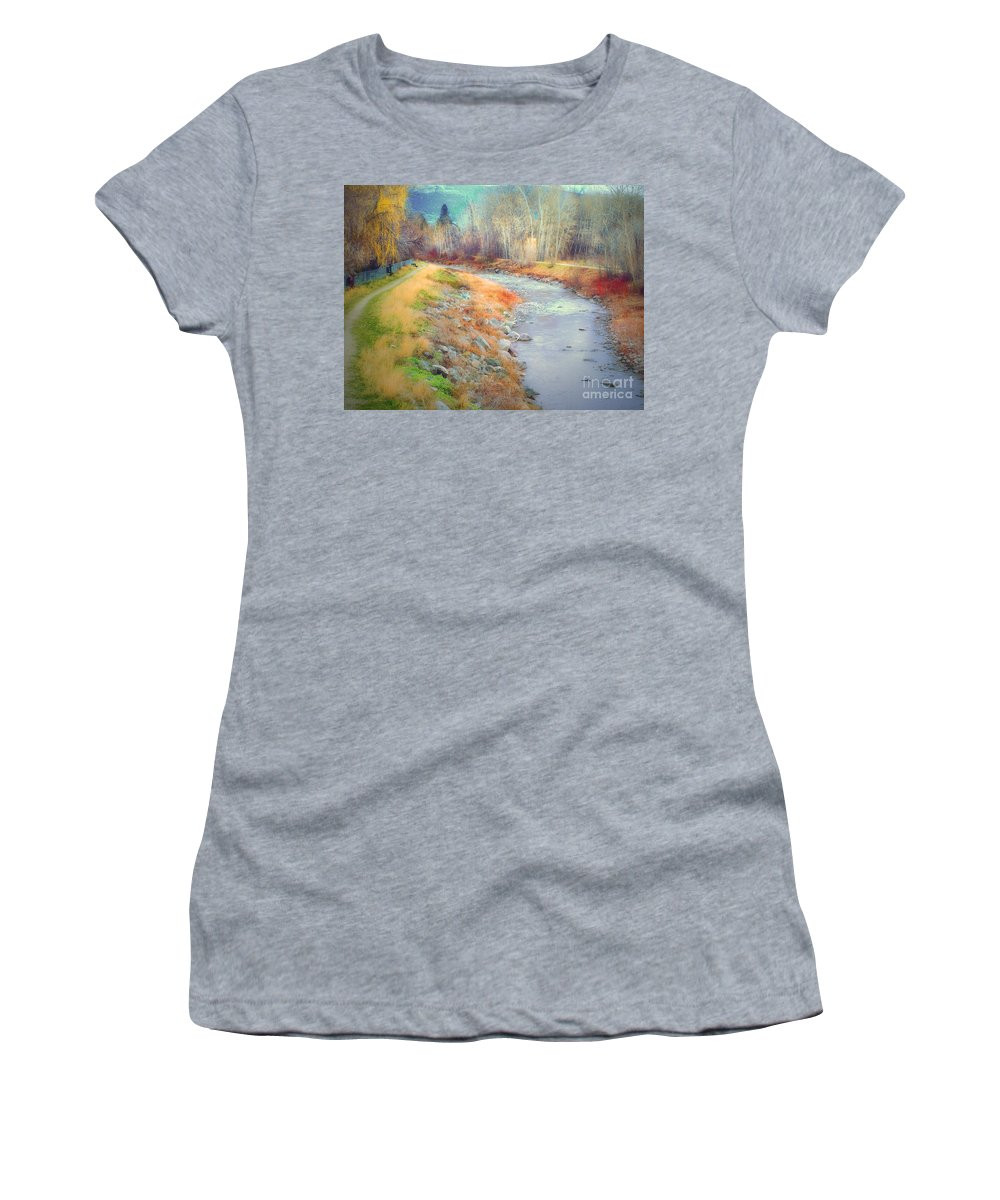 Creek Women's T-Shirt (Athletic Fit) featuring the photograph March 21 2010 by Tara Turner