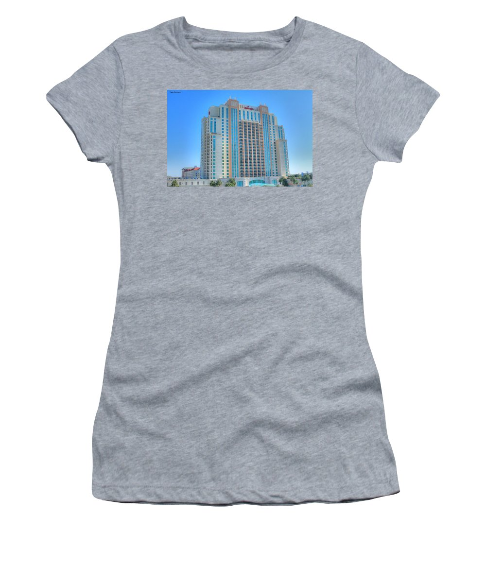 Marriott Women's T-Shirt (Athletic Fit) featuring the photograph Marriott Waterfront-2 by James Markey