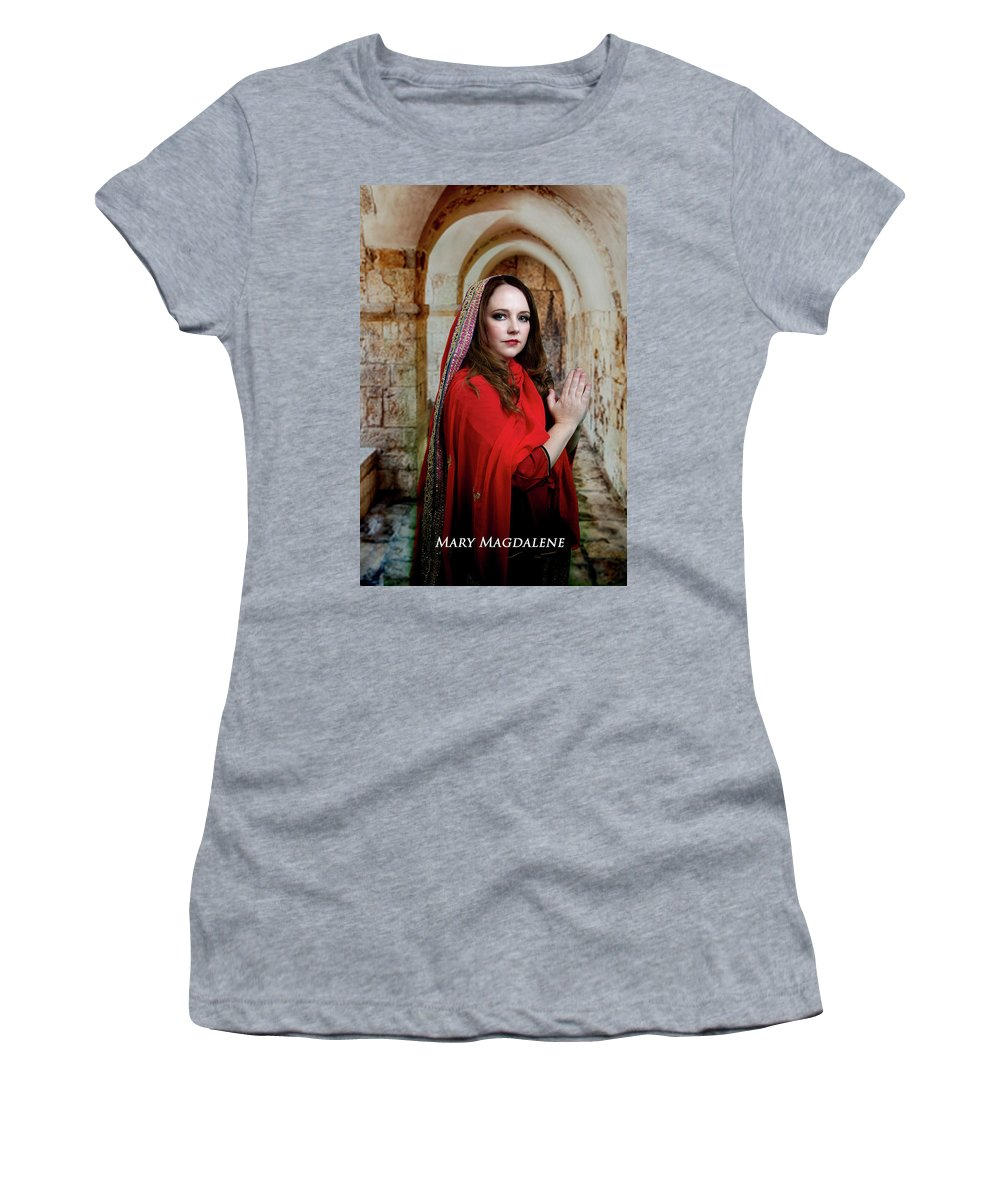 Mary Women's T-Shirt (Athletic Fit) featuring the photograph Mary Magdalene by David Clanton