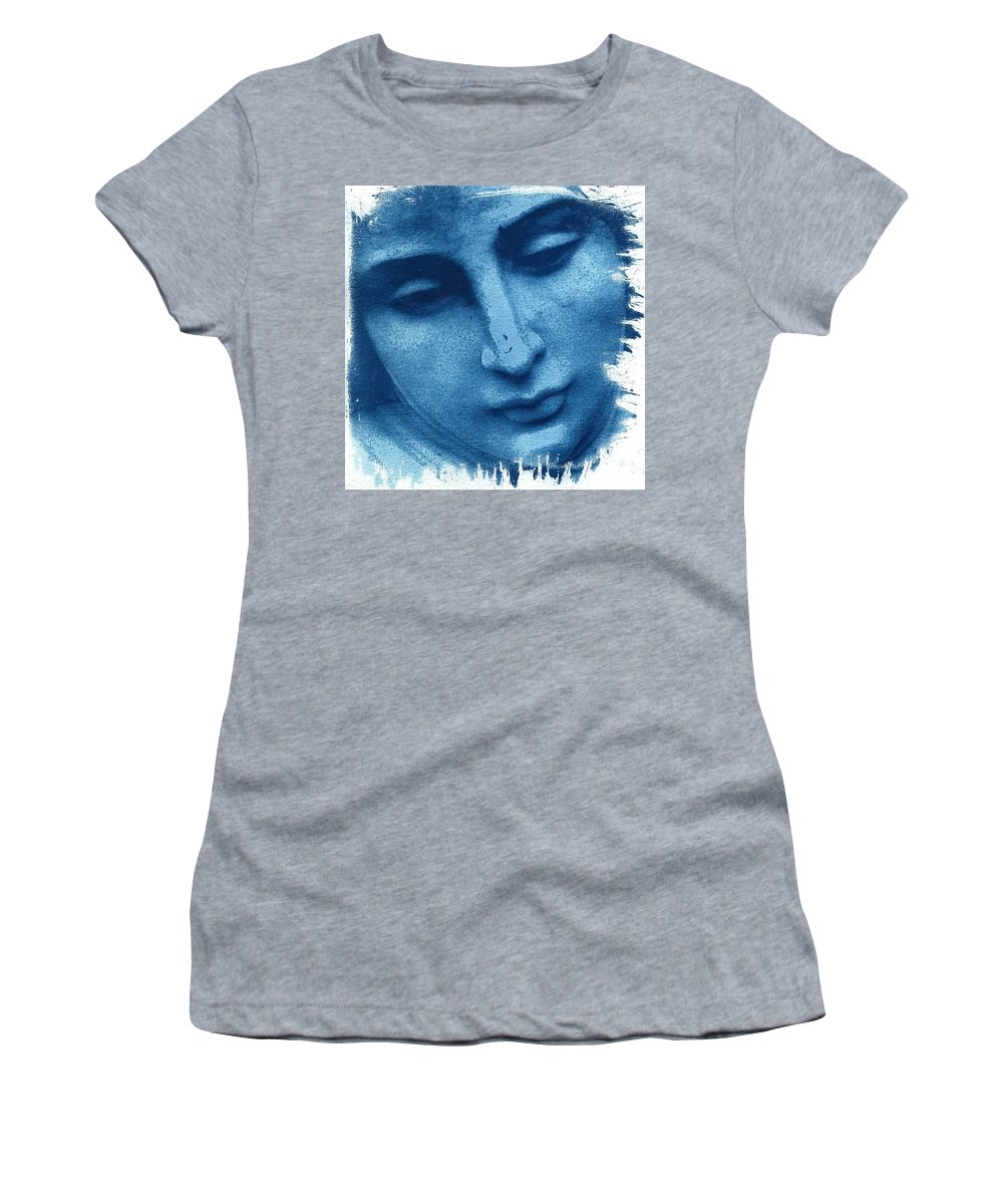 Blue Women's T-Shirt (Athletic Fit) featuring the photograph Marys Blues by Jane Linders